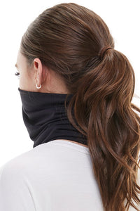 Black Neck Gaiter Face Mask - Olive Vines Boutique