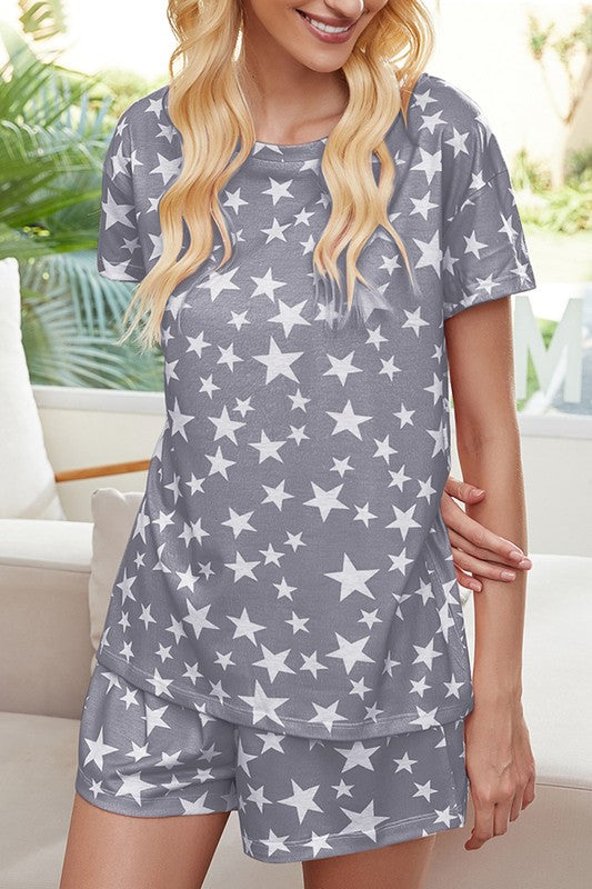 Star Gazed Two Piece Lougewear - Olive Vines Boutique