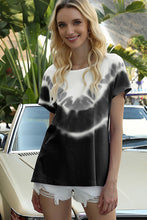 Load image into Gallery viewer, Black & White Tie Dye Dreams Top - Olive Vines Boutique