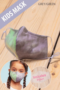 Kid's Adjustable Fitted Reusable Face Mask with Filter Slot - Olive Vines Boutique