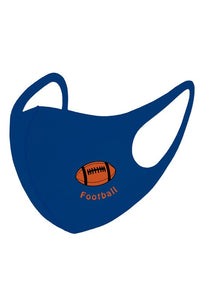 Football Reusable Kids Face Mask - Olive Vines Boutique