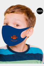 Load image into Gallery viewer, Football Reusable Kids Face Mask - Olive Vines Boutique