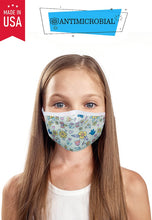 Load image into Gallery viewer, Antimicrobial Fall Flowers Kid's Mask - Olive Vines Boutique