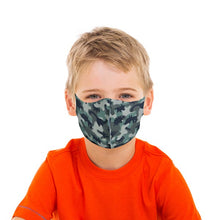 Load image into Gallery viewer, Dinosaur Camo Kids Face Mask - Olive Vines Boutique