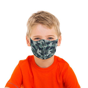 Dinosaur Camo Kids Face Mask - Olive Vines Boutique