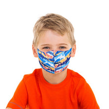 Load image into Gallery viewer, Striped Shark & Sports Face Mask - Olive Vines Boutique