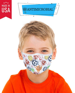 Kid's Antimicrobial Sports Face Mask - Olive Vines Boutique