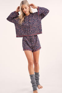Chloe Lounge Hoody & Short Set - Olive Vines Boutique