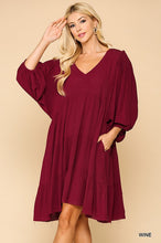 Load image into Gallery viewer, Wine for the Holidays Dress - Olive Vines Boutique