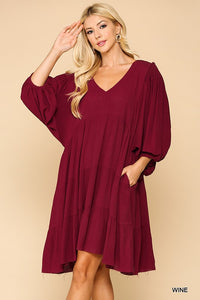 Wine for the Holidays Dress - Olive Vines Boutique