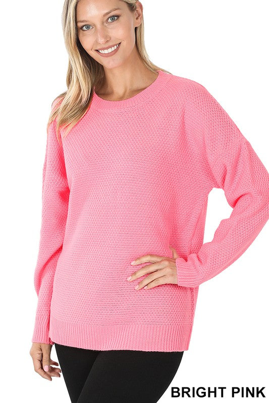 Pretty In Pink Sweater - Olive Vines Boutique