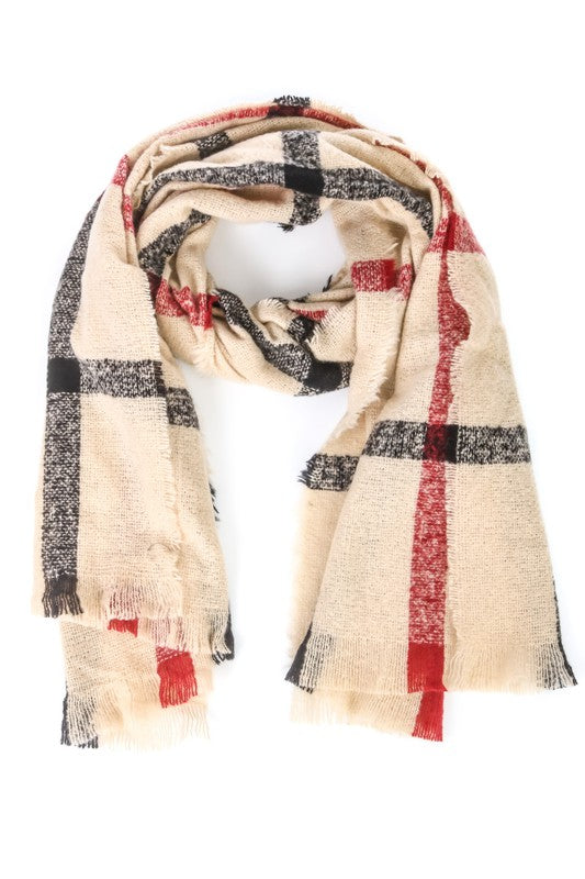 Classy Chic Plaid Scarf - Olive Vines Boutique