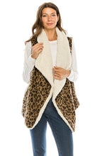 Load image into Gallery viewer, Leopard Love Vest - Olive Vines Boutique