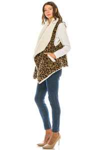 Leopard Love Vest - Olive Vines Boutique