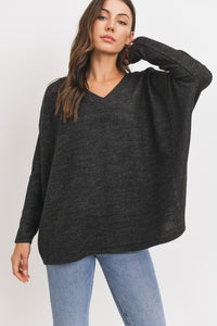 Girl Talk Sweater Top - Olive Vines Boutique