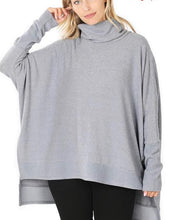 Load image into Gallery viewer, Brunch Date Poncho Sweater - Olive Vines Boutique