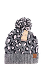 Load image into Gallery viewer, CC LEOPARD KNIT BEANIE - Olive Vines Boutique