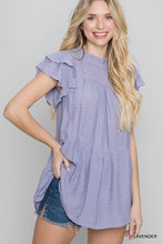 Load image into Gallery viewer, Spring Sentiments Ruffle Top - Olive Vines Boutique