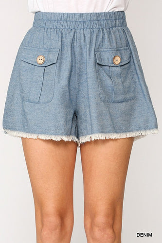 Blue Jean Baby Shorts - Olive Vines Boutique