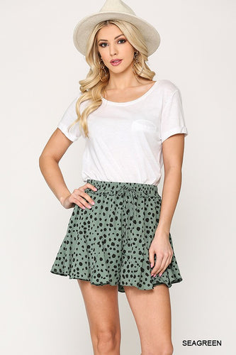 Destined For You Flared Shorts - Olive Vines Boutique