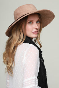 Straight Wide Brim Hat - Olive Vines Boutique