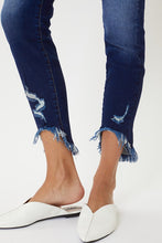 Load image into Gallery viewer, High Rise Hem Detail Ankle Skinny Jeans - Olive Vines Boutique