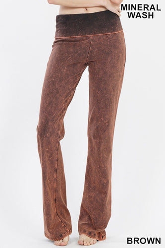 Mineral Wash Yoga Pant - Olive Vines Boutique