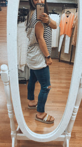 Jules Striped Short Sleeve Top