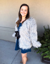 Load image into Gallery viewer, Super Shaggy Faux Fur Coat - Olive Vines Boutique