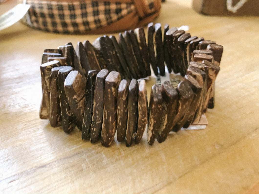 Rectangle Wood Bracelet - Olive Vines Boutique