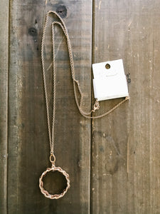 Metal Chain With Faux Leather Necklace - Olive Vines Boutique