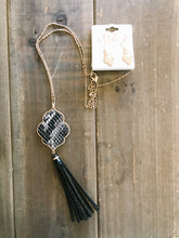 Load image into Gallery viewer, Moroccan Flower and Tassel Necklace - Olive Vines Boutique