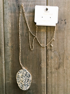 Natural Stone Necklace - Olive Vines Boutique