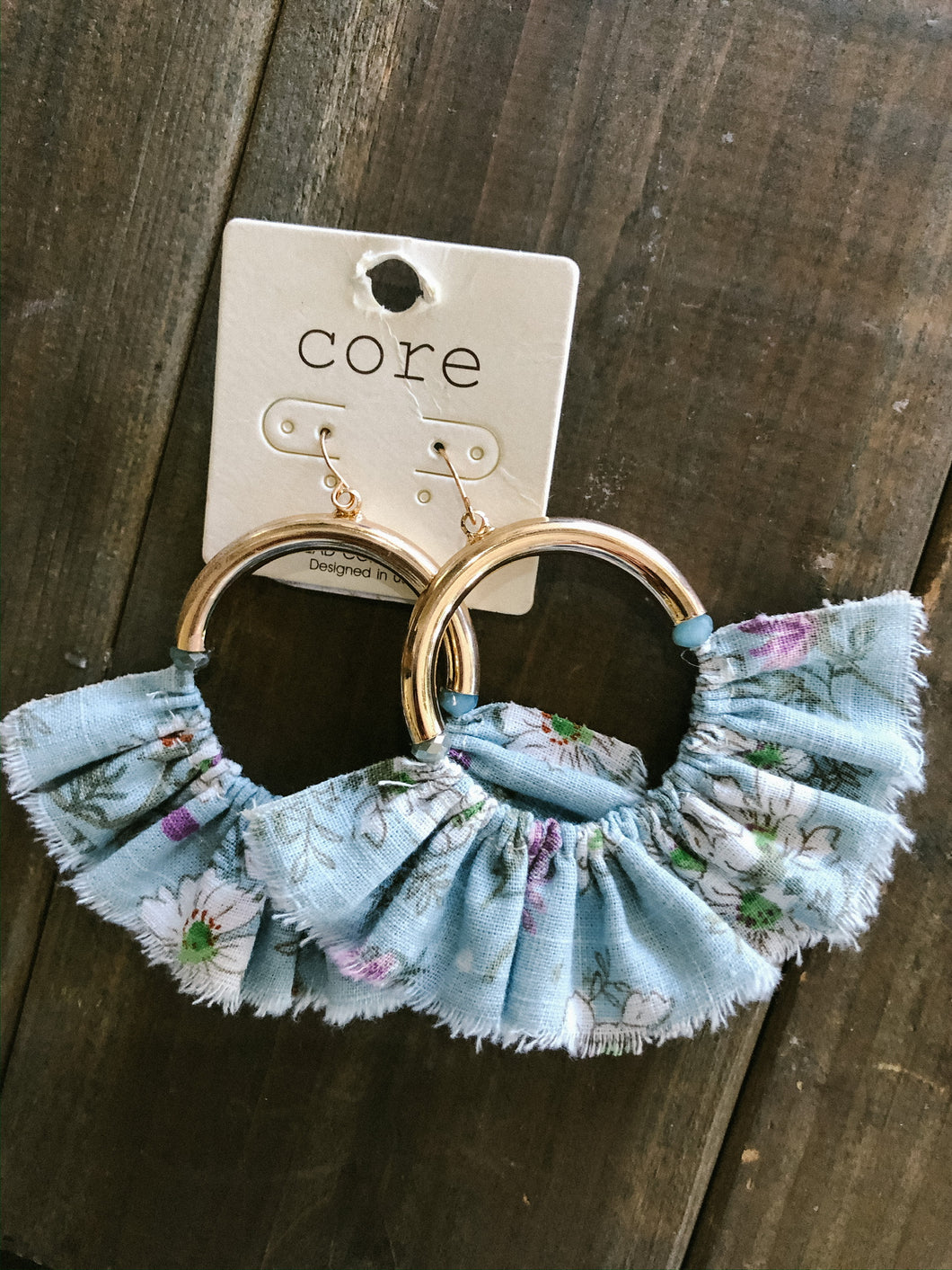 Fabric Skirt Earrings - Olive Vines Boutique