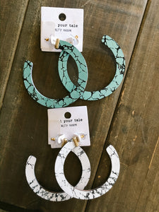 Marble Earrings - Olive Vines Boutique