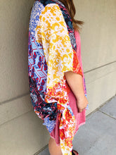 Load image into Gallery viewer, Boho Floral Patchwork Kimono - Olive Vines Boutique