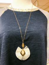 Load image into Gallery viewer, Rhombus Tassel Necklace - Olive Vines Boutique