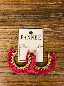 Boho Fringe Hoop Earrings - Olive Vines Boutique