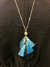 Load image into Gallery viewer, Tassel Cluster Pendant Necklace - Olive Vines Boutique