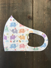 Load image into Gallery viewer, Elephant Print Kid's Face Mask - Olive Vines Boutique