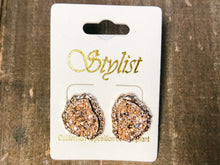 Load image into Gallery viewer, Uneven Druzy Studs - Olive Vines Boutique