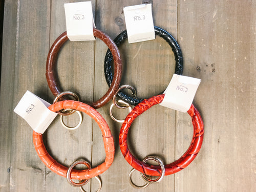 Leather Key Ring Bracelet - Olive Vines Boutique