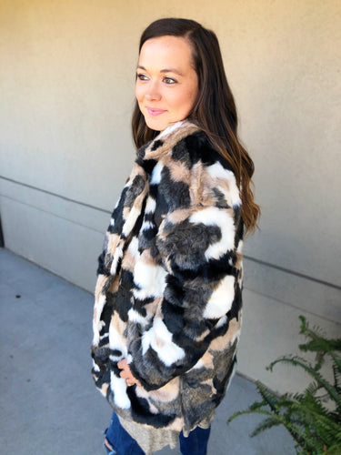 All the Marbles Coat - Olive Vines Boutique