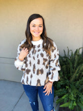 Load image into Gallery viewer, Stay Wild Fuzzy Sweater - Olive Vines Boutique