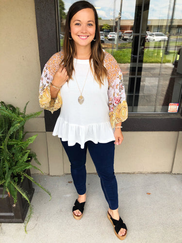 All the Best Things Bell Sleeve Top - Olive Vines Boutique