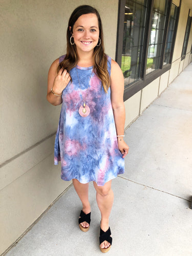 Taylor Tie Dye Dress - Olive Vines Boutique