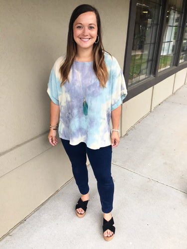 Tropical Paradise Tie Dye Top - Olive Vines Boutique