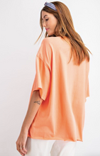 Load image into Gallery viewer, Caroline Coral Oversized Top - Olive Vines Boutique
