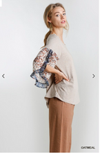 Load image into Gallery viewer, All Seasons Ruffle Sleeved Top - Olive Vines Boutique