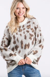 Stay Wild Fuzzy Sweater - Olive Vines Boutique